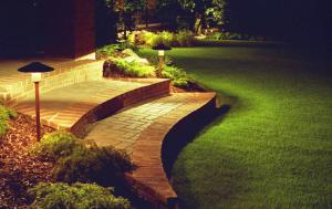 Landscape installation with Kichler outdoor stake lights